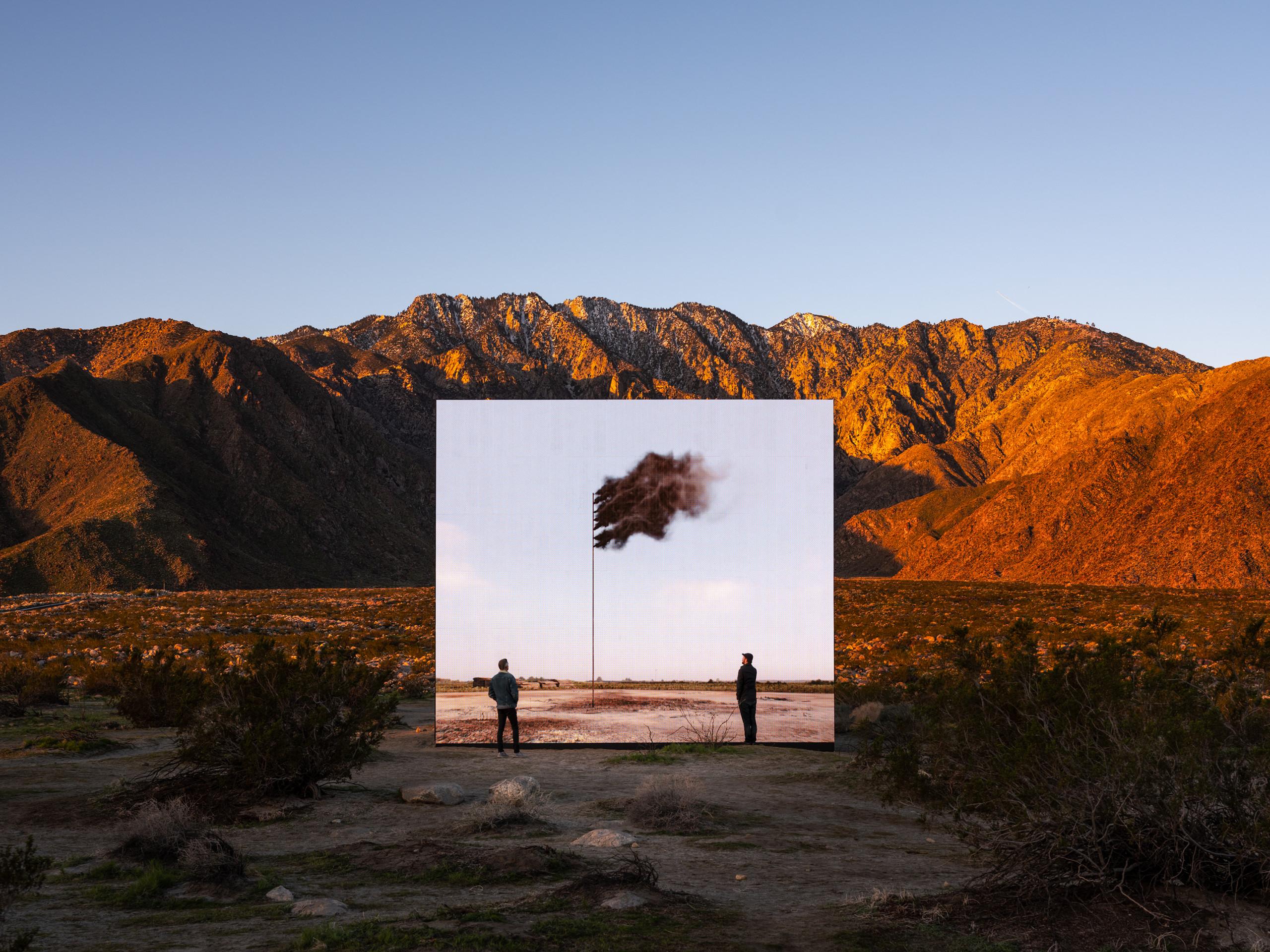 "John Gerrard, ""Western Flag (Spindletop, Texas) 2014"", Desert X 2019"