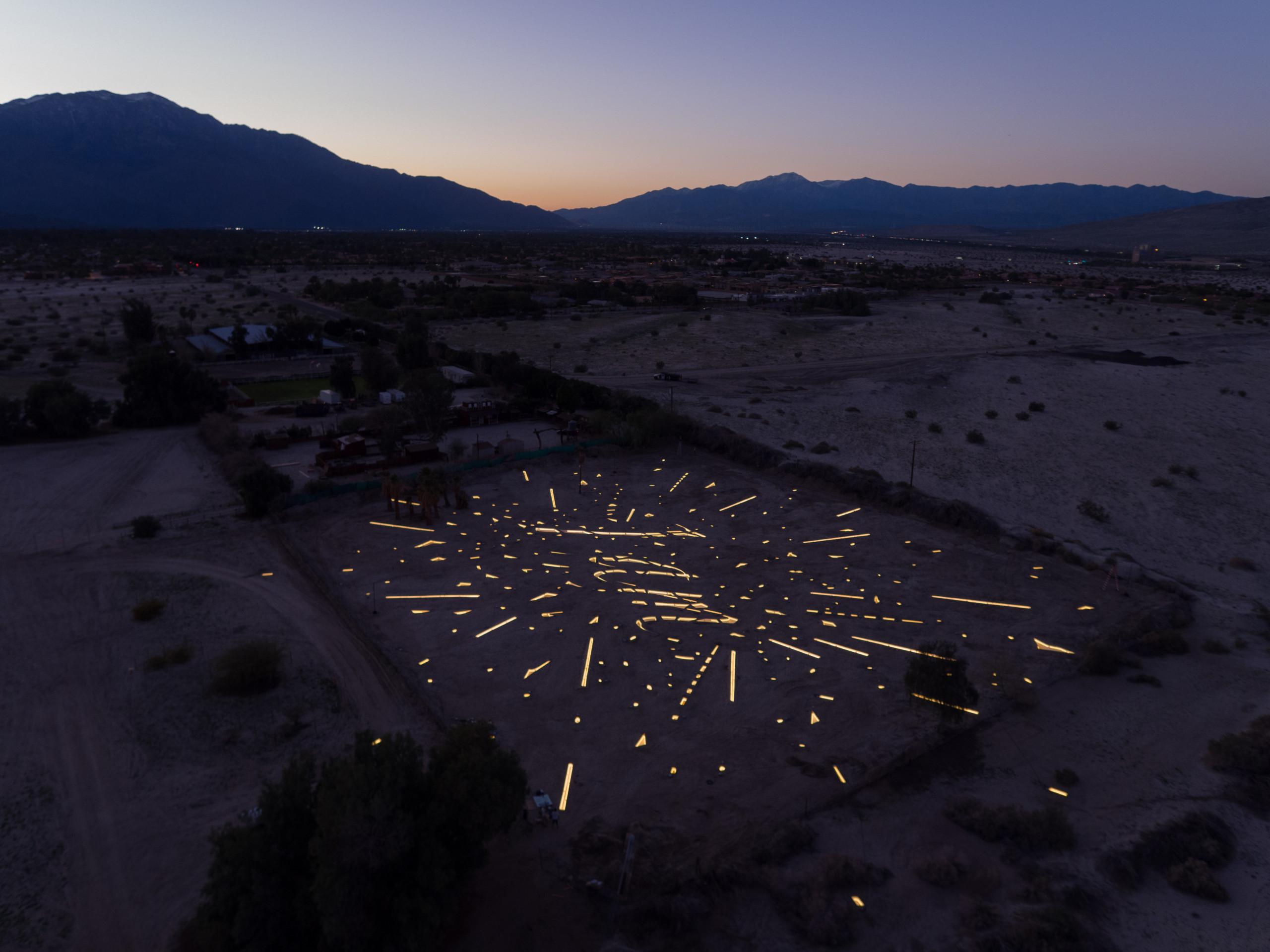 "Tavares Strachan, ""I am"", Desert X 2017. Photo by David Blank"