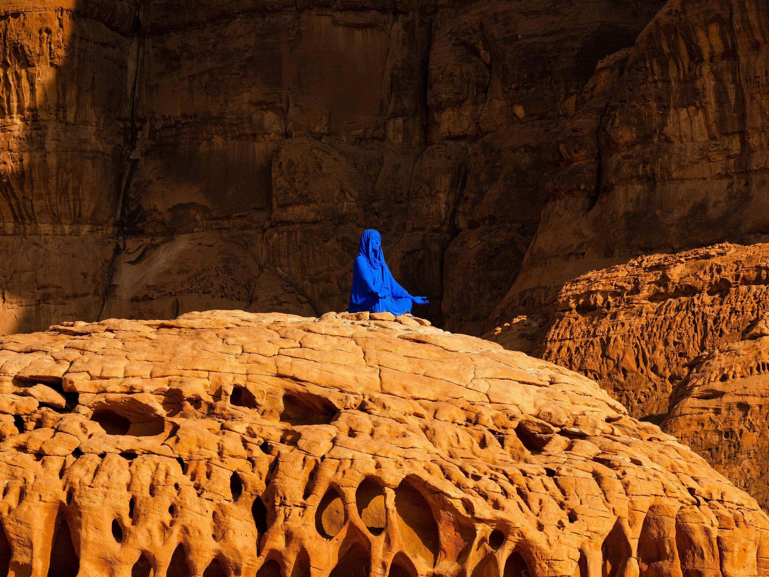 "Lita Albuquerque, ""NAJMA (She Placed One Thousand Suns Over the Transparent Overlays of Space)"", Desert X AlUla"